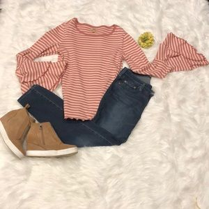 Fun, Springy, Striped Top